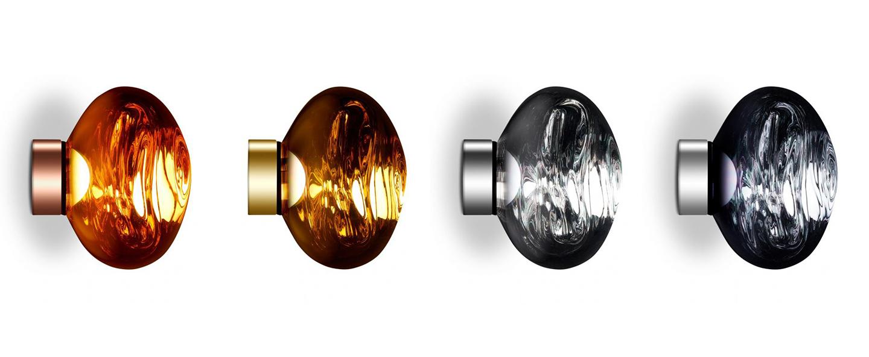 Applique ou plafonnier melt surface or led 3000k 800lm o50cm h28cm tom dixon normal