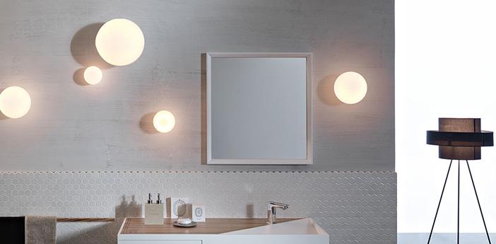 Applique ou plafonnier pour salle de bain lumi blanc ip40 o33cm h35cm fabbian normal