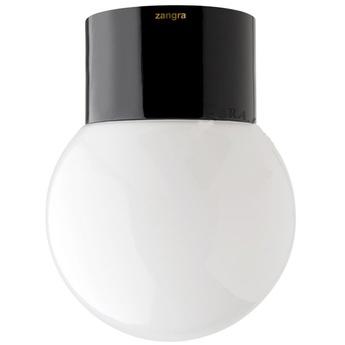 Applique ou plafonnier pure porcelaine 003 noir o12 5cm h16cm zangra normal