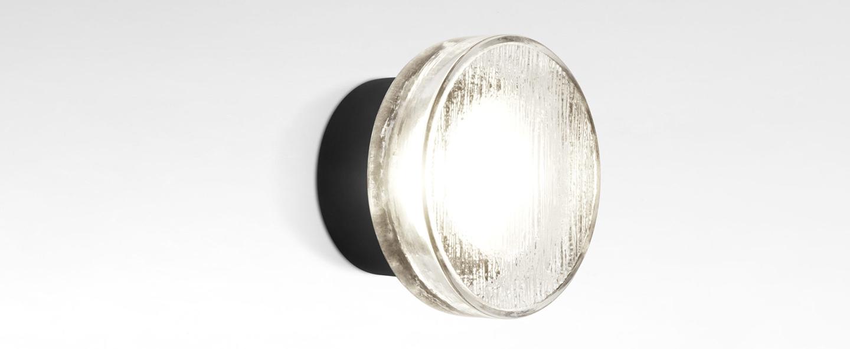 Applique ou plafonnier roc blanc et noir ip65 led 2700k 544lm o14cm h8cm marset normal