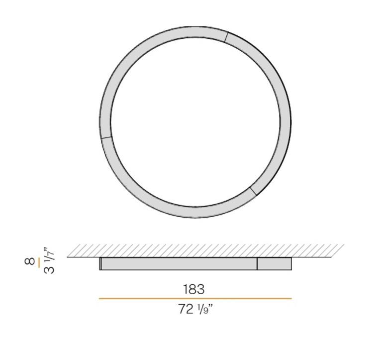 Silver ring studio tecnico panzeri applique ou plafonnier wall or ceiling light  panzeri p08201 180 0402  design signed nedgis 116996 product
