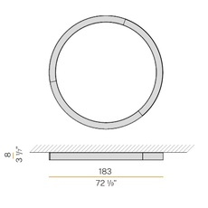 Silver ring studio tecnico panzeri applique ou plafonnier wall or ceiling light  panzeri p08201 180 0402  design signed nedgis 116996 thumb