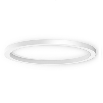 Applique ou plafonnier silver ring blanc ip40 led 3000k 7850lm o183cm h8cm panzeri normal