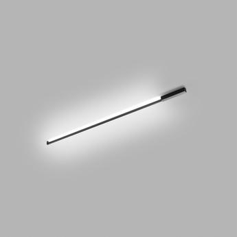 Applique ou plafonnier stripe noir led 2700k 3300lm l200cm h60cm light point normal