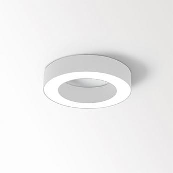 Applique ou plafonnier super oh xs blanc ip40 led 3000k 691lm o25cm h5cm delta light normal