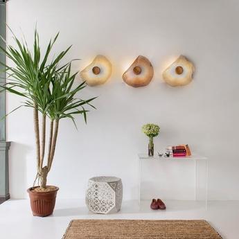 Applique ou plafonnier teratai argent l50cm h50cm gong normal