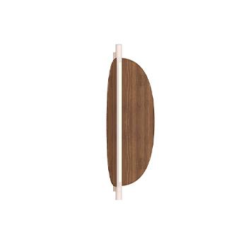 Applique ou plafonnier thula 562 41 sans cable corps beige detail beige abat jour noyer ip40 led 2700k 1400lm l25cm h67cm tooy normal
