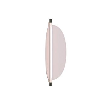 Applique ou plafonnier thula 562 42 sans cable corps beige detail nickel abat jour cuir beige ip40 led 2700k 2600lm l25cm h104cm tooy normal