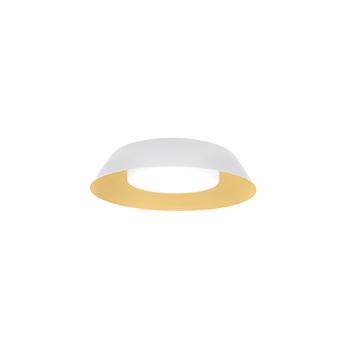 Applique ou plafonnier towna 1 0 blanc et or ip44 led 2700k 780lm o25 4cm h8 9cm wever ducre normal