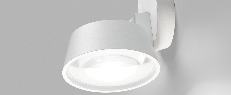 Applique ou plafonnier vantage 1 blanc led 2700k 900lm o13cm h7 4cm light point normal