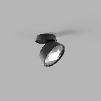 Applique ou plafonnier vantage 1 noir led 2700k 540lm o10cm h7cm light point normal