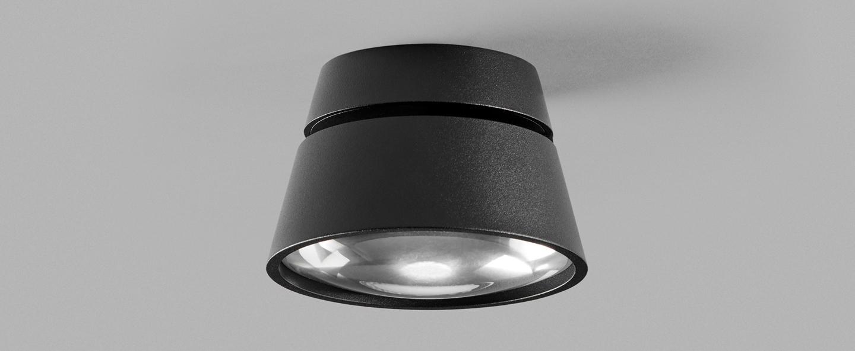 Applique ou plafonnier vantage 1 noir led 2700k 900lm o13cm h7 4cm light point normal