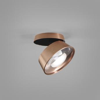 Applique ou plafonnier vantage 1 noir rose dore led 2700k 900lm o13cm h7 4cm light point normal