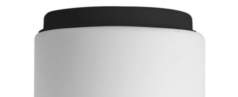 Applique ou plafonnier verre souffle blanc noir ip40 o18 4cm h20cm zangra normal