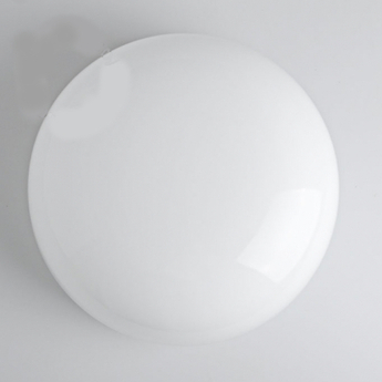 Applique ou plafonnier verre souffle blanc o25cm h12cm zangra normal