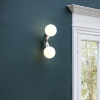Applique ou plafonnier vine celling wall chrome led 3000k lm l15cm h42cm andlight normal