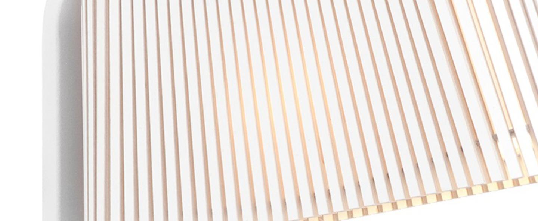 Applique owalo 7030 blanc lamine led o7cm h47cm secto design normal