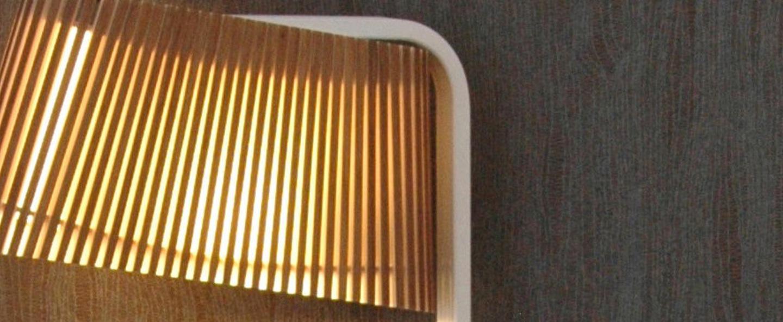 Applique owalo 7030 bois marron led l33cm h47cm secto design normal