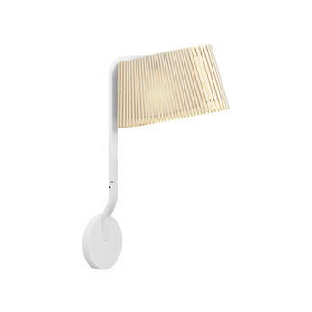 Applique owalo 7030 bouleau naturel led o7cm h47cm secto design normal