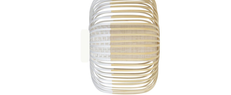 Applique plafonnier bamboo light s blanc bambou o35cm h23cm forestier normal