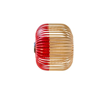 Applique plafonnier bamboo light xs red bambou rouge o27cm h20cm forestier normal