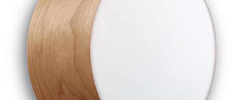 Applique plafonnier gea 20 a cerise naturelle led o20cm h10cm lzf normal