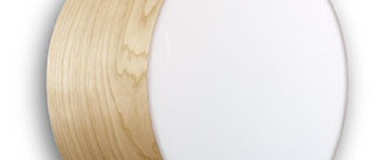Applique plafonnier gea 20 a hetre naturel led o20cm h10cm lzf normal