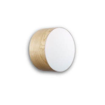 Applique plafonnier gea 20 a hetre naturel led o20cm h10cm lzf normal