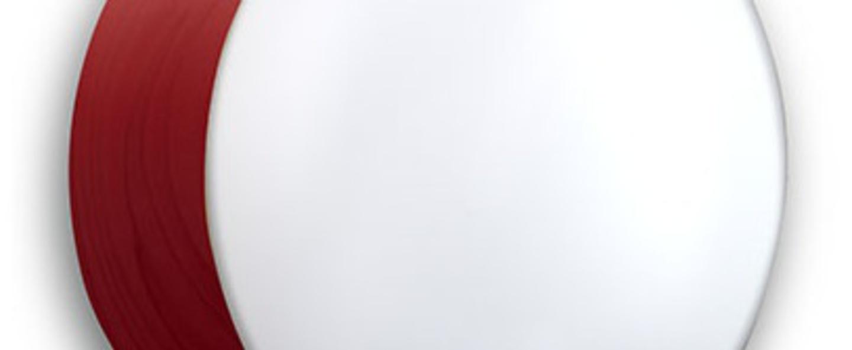 Applique plafonnier gea 30 a rouge led o30cm h10cm lzf normal