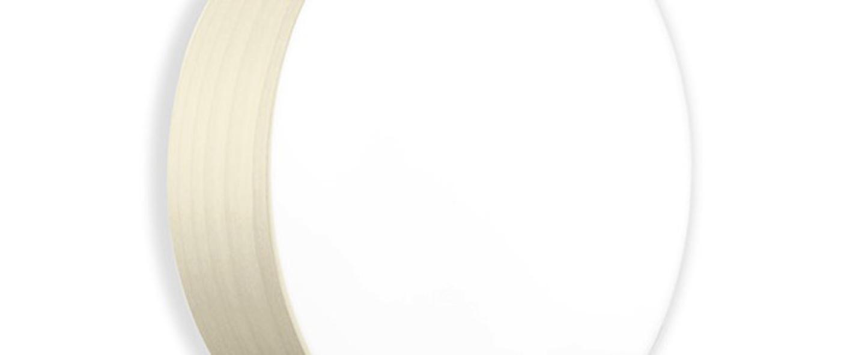 Applique plafonnier gea 42 a blanc ivoire led o42cm h10cm lzf normal