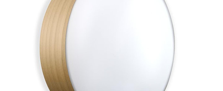Applique plafonnier gea 42 a hetre naturel led o42cm h10cm lzf normal