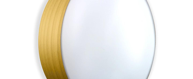 Applique plafonnier gea 42 a jaune led o42cm h10cm lzf normal