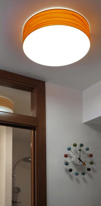 Applique plafonnier gea 42 a orange led o42cm h10cm lzf normal