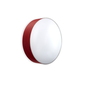 Applique plafonnier gea 42 a rouge led o42cm h10cm lzf normal