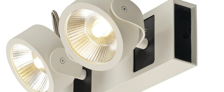 Applique plafonnier kalu noir et blanc led 3000k l28 5cm h8 8cm slv normal
