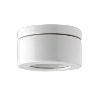 Applique plafonnier salle de bain ip44 etanche porcelaine blanc o12cm h6 5cm zangra normal