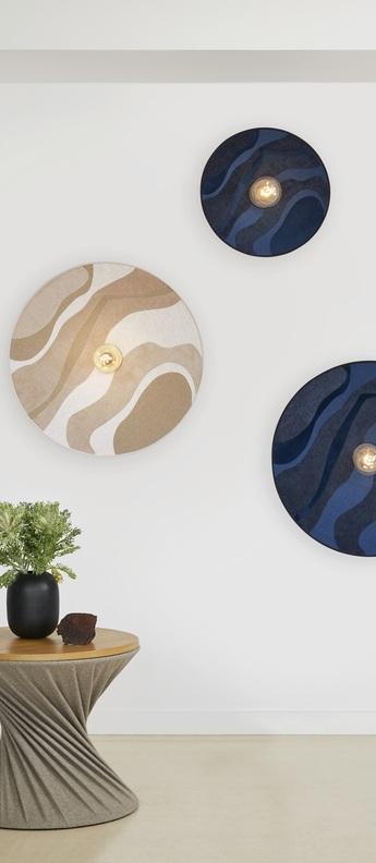Applique plafonnier sonia laudet malachite sable o60cm h16cm market set normal
