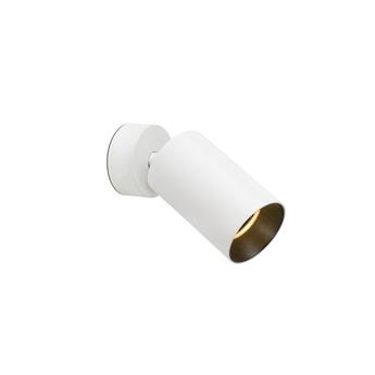 Applique plafonnier stan gu10 blanc orientable o6cm h15cm faro normal