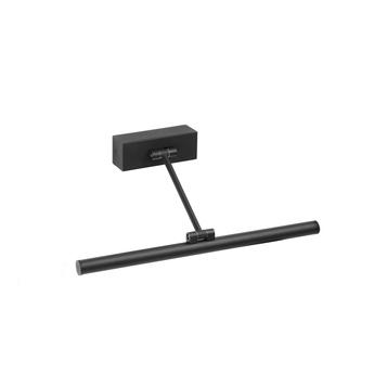 Applique pour tableaux magritte 1 noir led 3000k 380lm l30cm h4cm faro normal