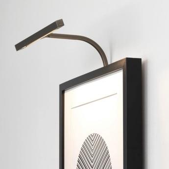 Applique pour tableaux mondrian 300 frame mounted led bronze led 2700k 125 82lm l30cm h26 5cm astro lighting normal