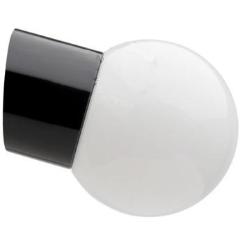 Applique pure porcelaine incline ip20 noir opal o12 5cm h10 5cm zangra normal