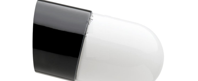 Applique pure porcelaine incline ip20 noir opal o8 5cm h9 5cm zangra normal