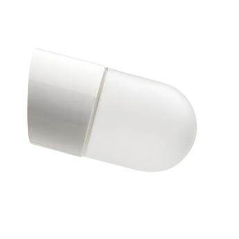 Applique salle de bain oblique blanc verre opalin ip44 o8 5cm h9 5cm zangra normal