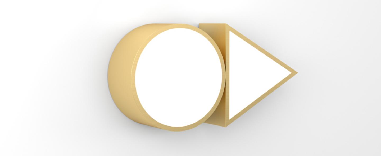 Applique shapes triangle and circle laiton l24cm h12cm atelier areti normal