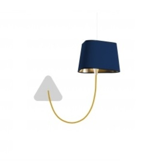 applique suspendue petit nuage bleu or 24cm. Black Bedroom Furniture Sets. Home Design Ideas
