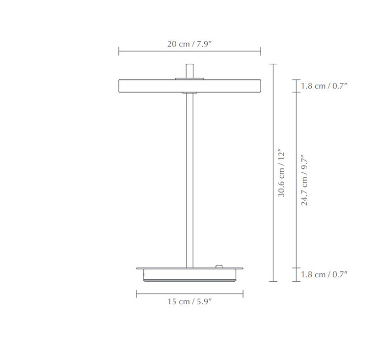 Asteria move soren ravn christensen baladeuse portable lamp  umage 2387  design signed nedgis 118881 product