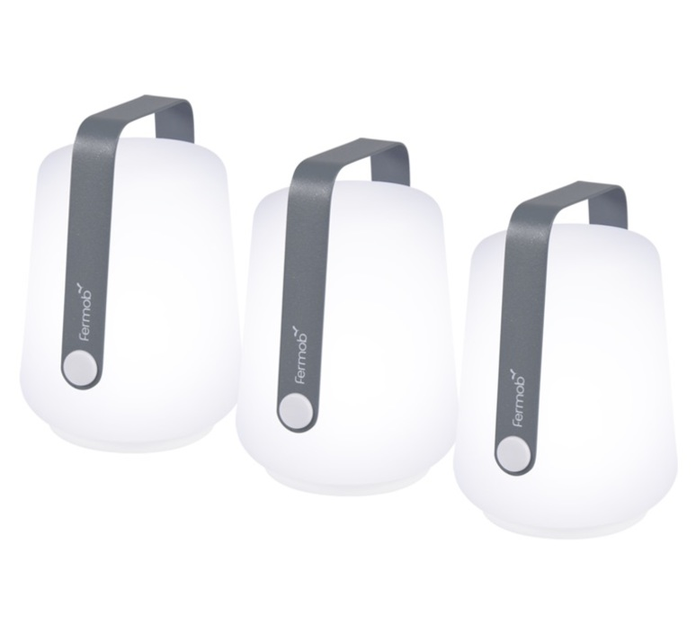 Balad gris orage tristan lohner baladeuse portable lamp  fermob 3602 gris orage  design signed nedgis 67741 product