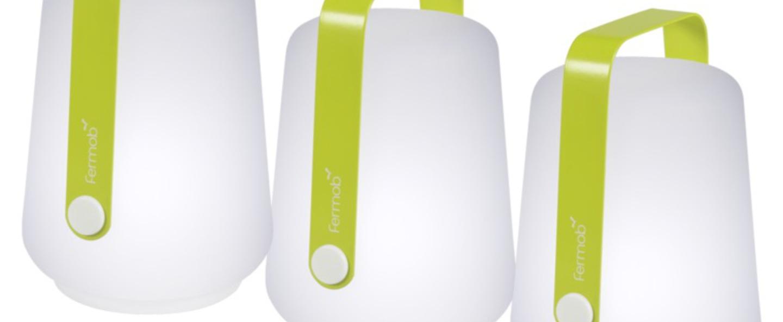 Baladeuse balad verveine vert led 6000 20 o10cm h13 5cm fermob normal
