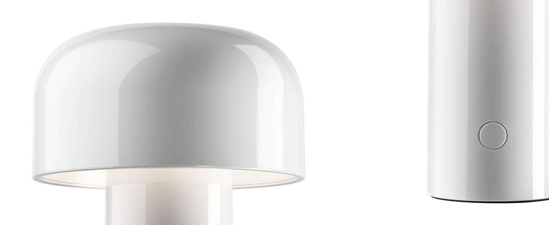 Baladeuse bellhop blanc led 2700k 109lm o12 5cm h21cm flos normal