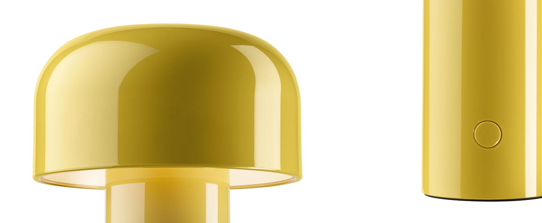 Baladeuse bellhop jaune led 2700k 109lm o12 5cm h21cm flos normal